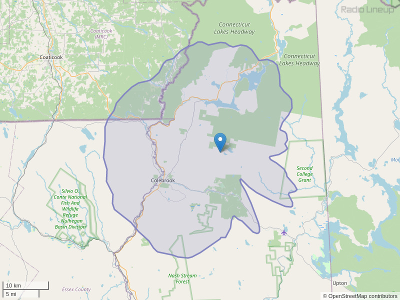 WEVF-FM Coverage Map
