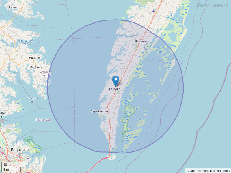 WHRE-FM Coverage Map