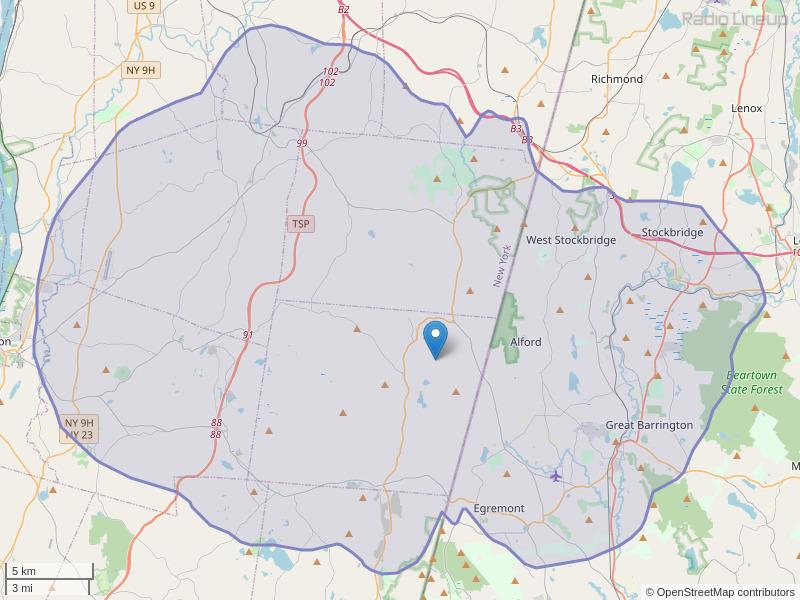 WNNU-FM Coverage Map