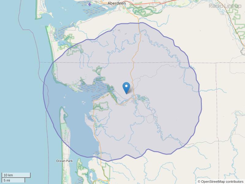KBSG-FM Coverage Map
