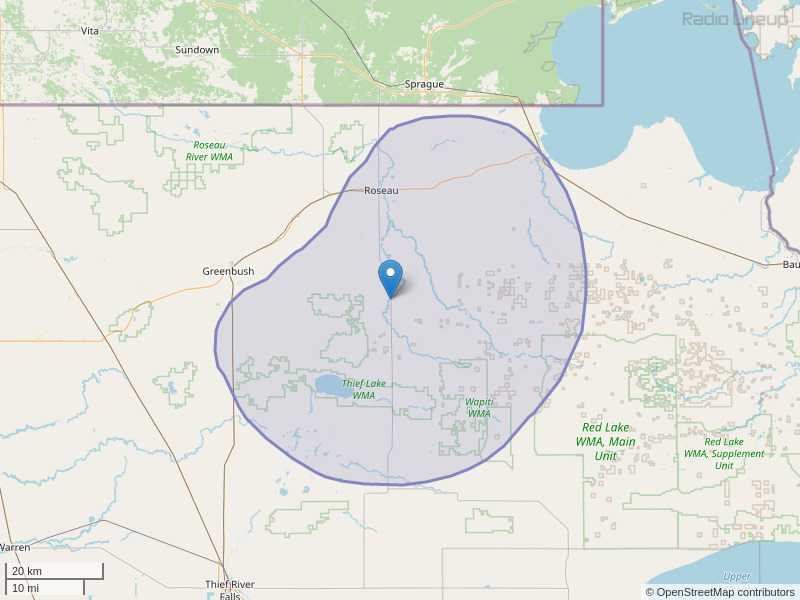 KOLJ-FM Coverage Map