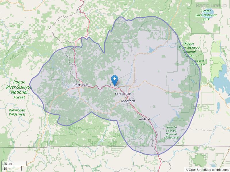 KAKT-FM Coverage Map