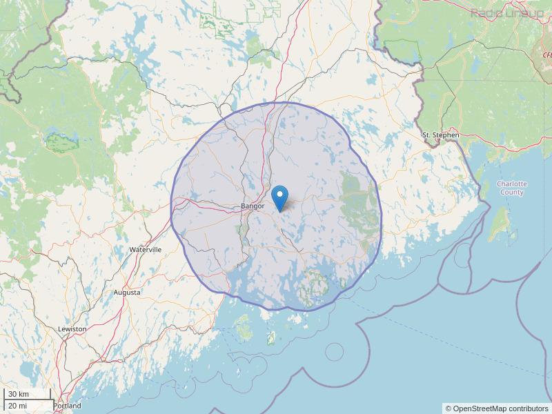 WEZQ-FM Coverage Map
