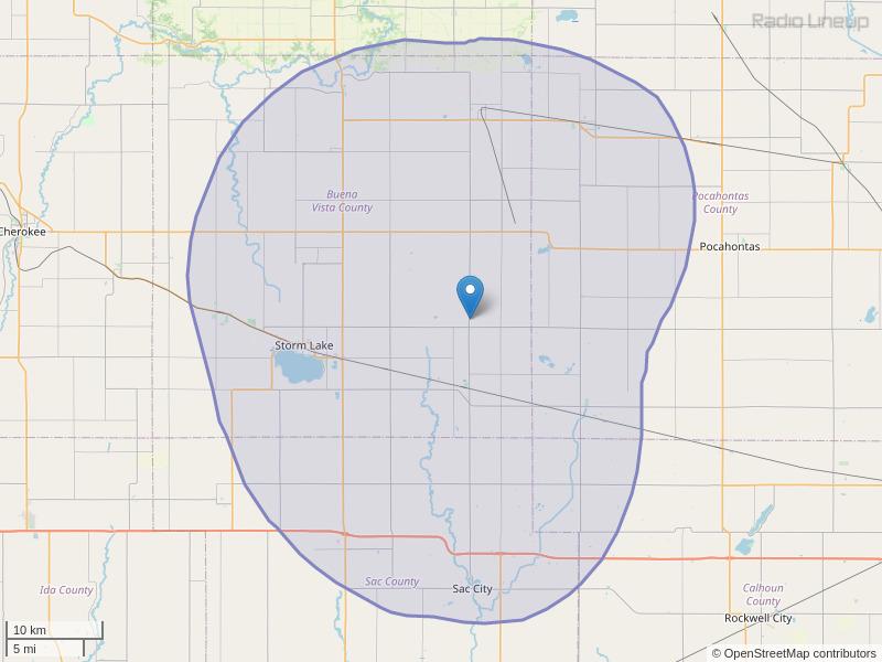 KOIA-FM Coverage Map