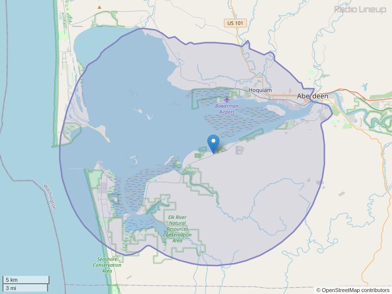 KGHI-FM Coverage Map
