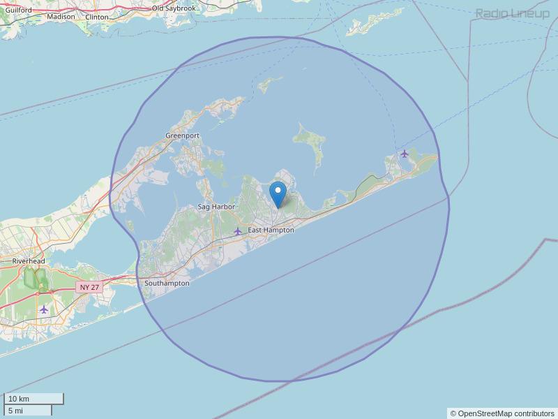 WEHN-FM Coverage Map