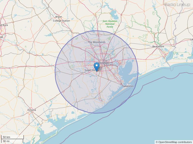 KTBZ-FM Coverage Map