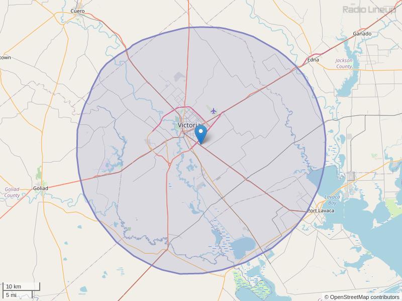 KBRZ-FM Coverage Map