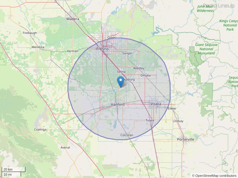 KUFW-FM Coverage Map