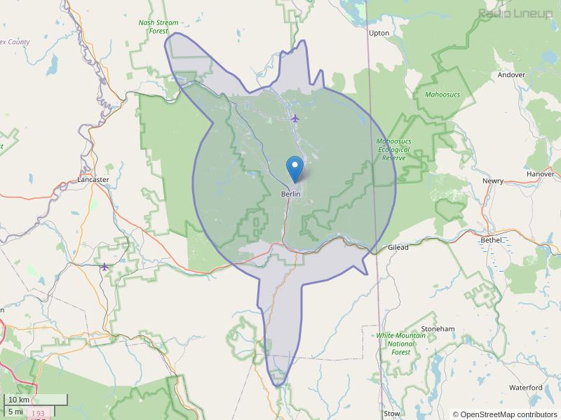WWOX-FM Coverage Map