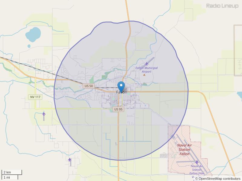 KNVR-FM Coverage Map