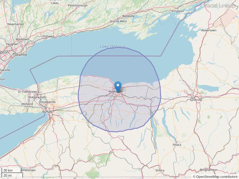 WCMF-FM Coverage Map