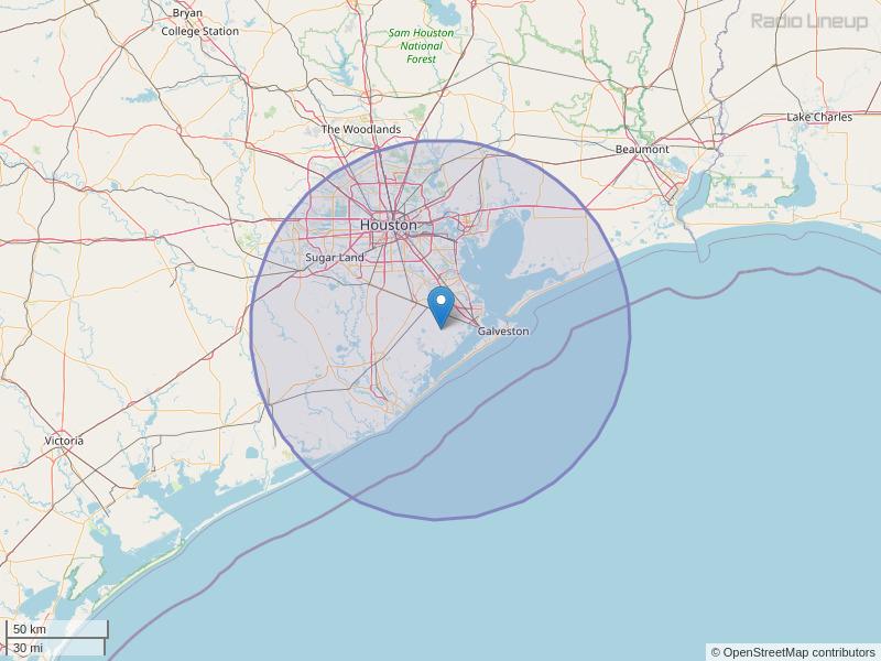 KOVE-FM Coverage Map
