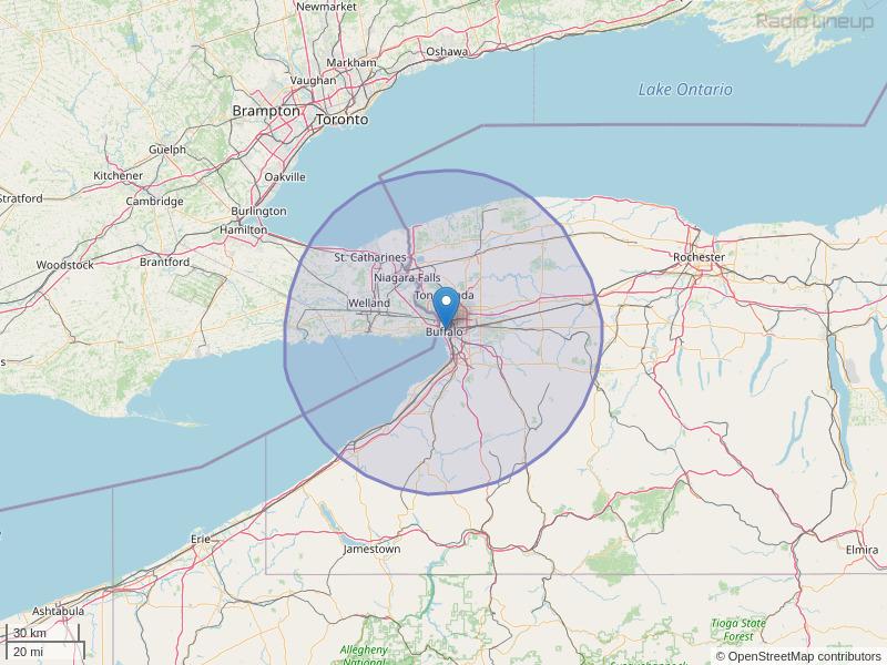 WMSX-FM Coverage Map