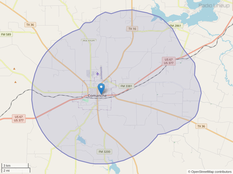 KCXX-FM Coverage Map
