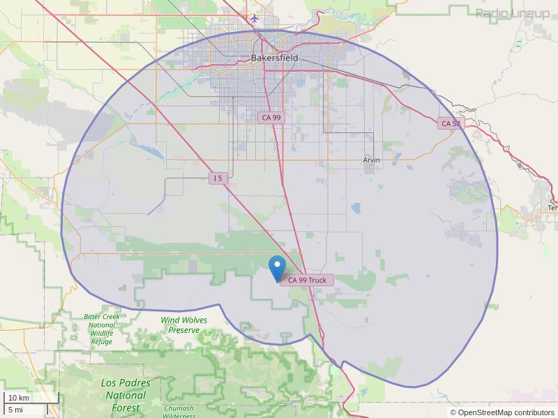 KHHT-FM Coverage Map