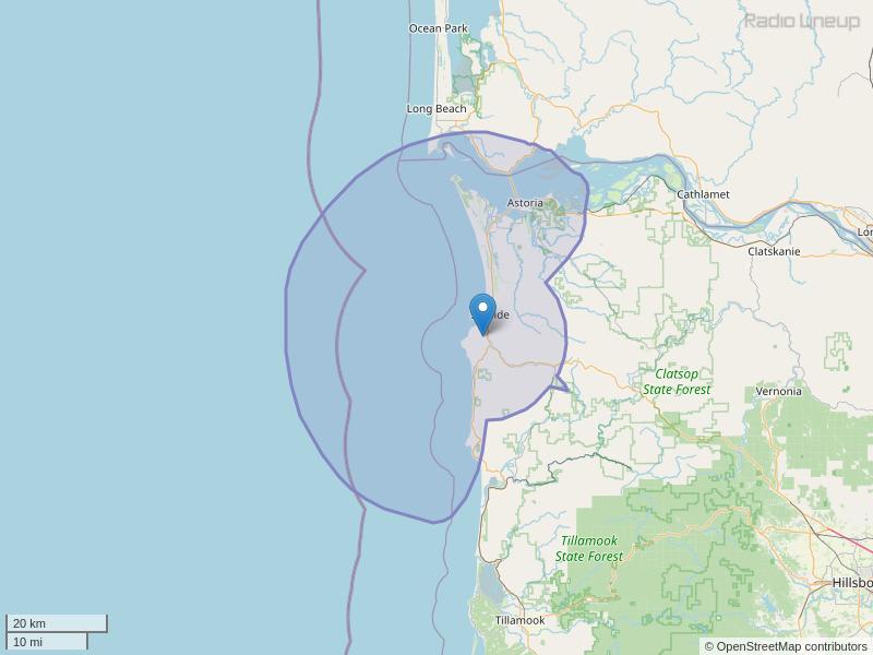 KEUB-FM Coverage Map