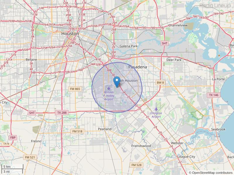 KJJG-LP Coverage Map