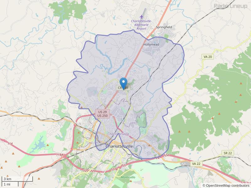 WVAI-LP Coverage Map