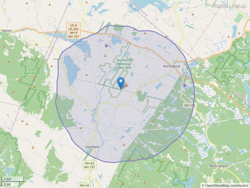 WQNH-LP Coverage Map
