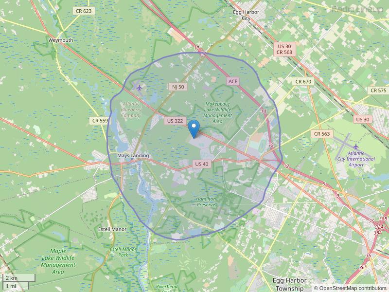 WRML-LP Coverage Map
