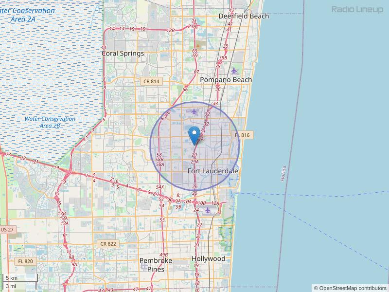 WZOP-LP Coverage Map