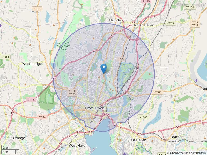 WNHH-LP Coverage Map