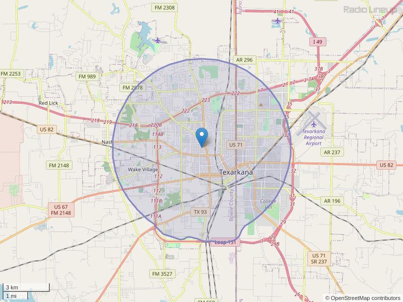 KTHN-LP Coverage Map