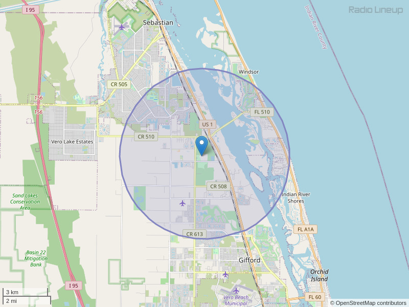 WWSH-LP Coverage Map
