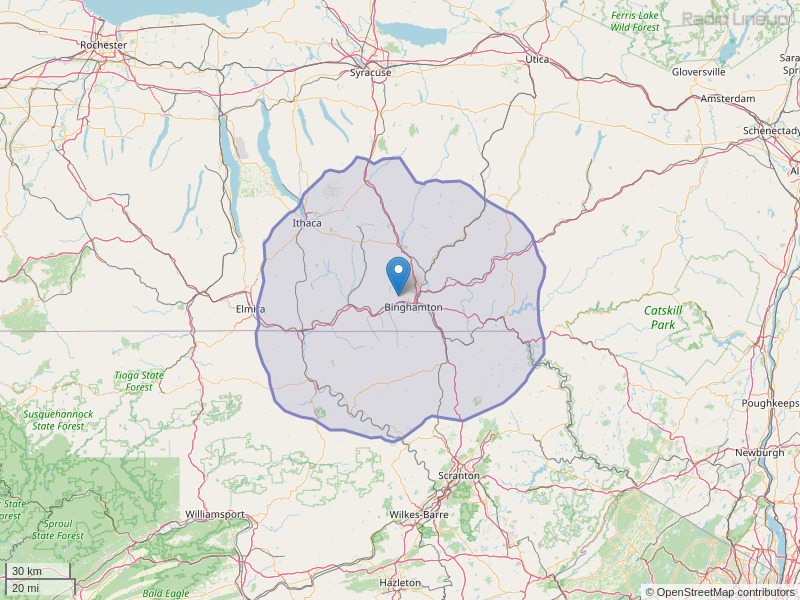 WBNW-FM Coverage Map