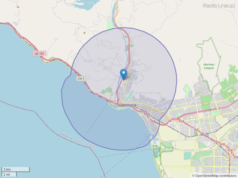 KPUV-LP Coverage Map