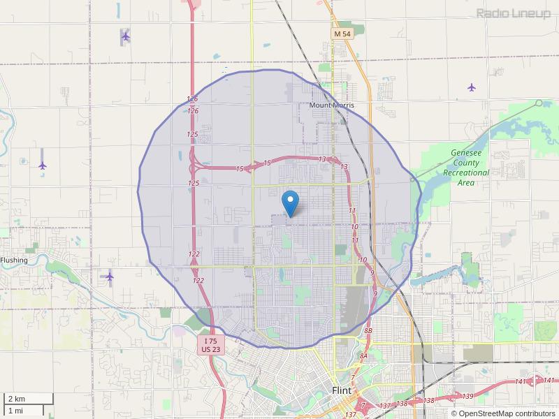 WFAH-LP Coverage Map