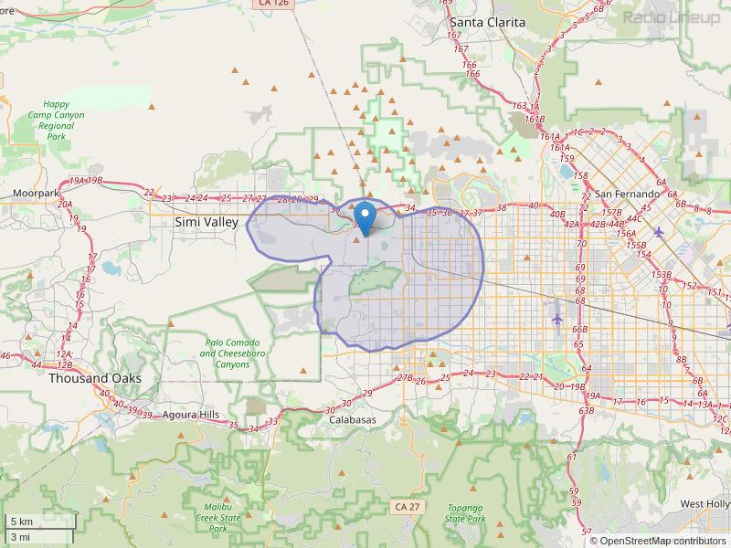 KSXS-LP Coverage Map