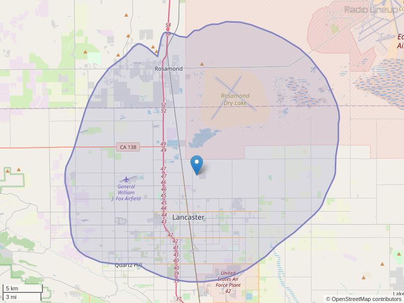 KGMX-FM Coverage Map