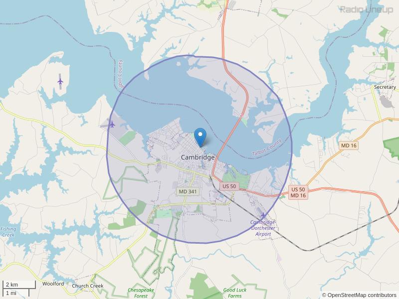 WHCP-LP Coverage Map