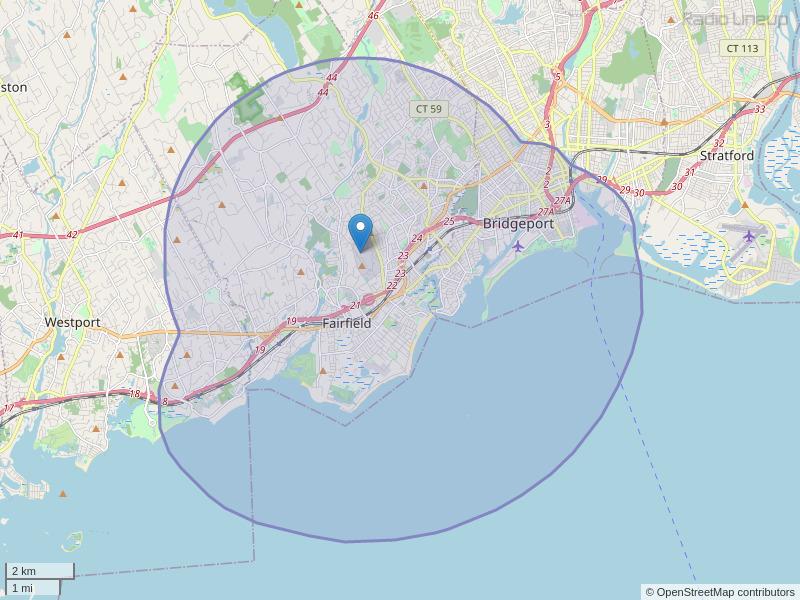 WVOF-FM Coverage Map