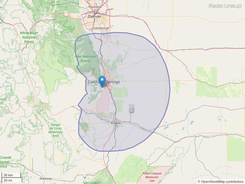 KGFT-FM Coverage Map