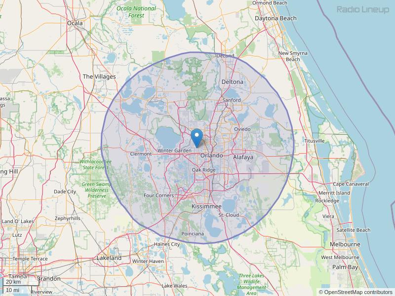 WMMO-FM Coverage Map