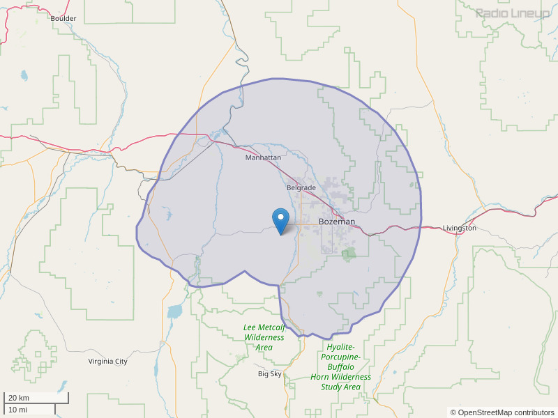 KMMS-FM Coverage Map