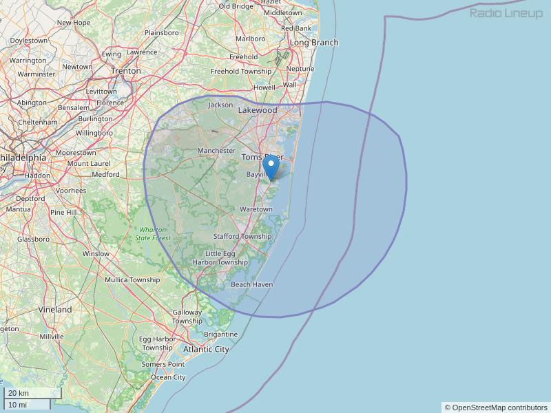 WCHR-FM Coverage Map