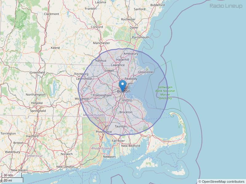 WBQT-FM Coverage Map