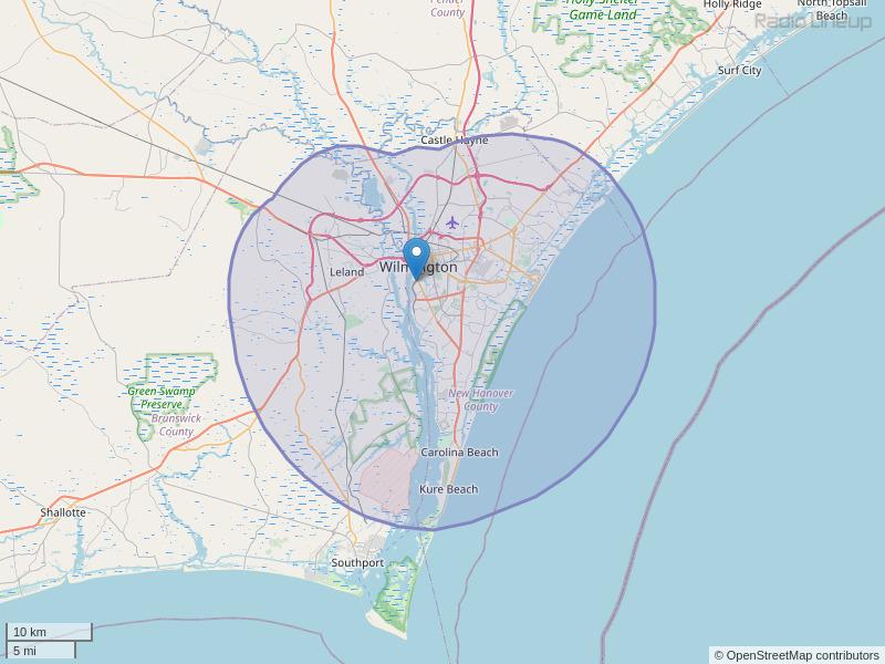 WKXS-FM Coverage Map