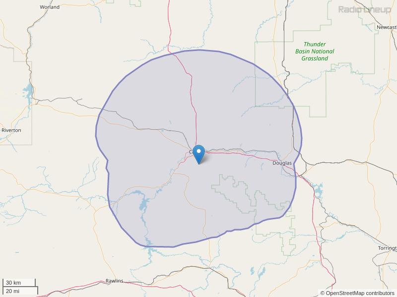 KWYY-FM Coverage Map