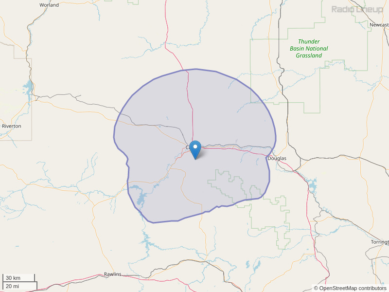 KTRS-FM Coverage Map