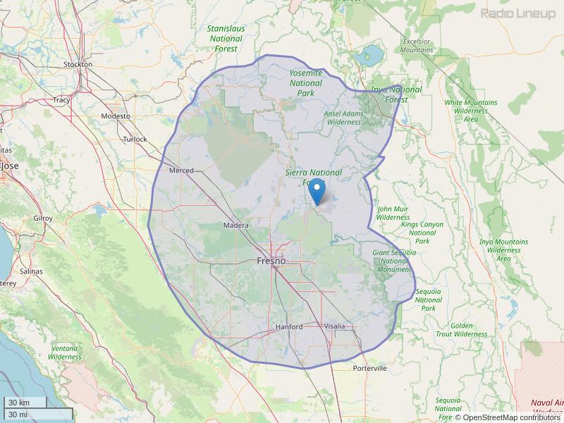KSKS-FM Coverage Map