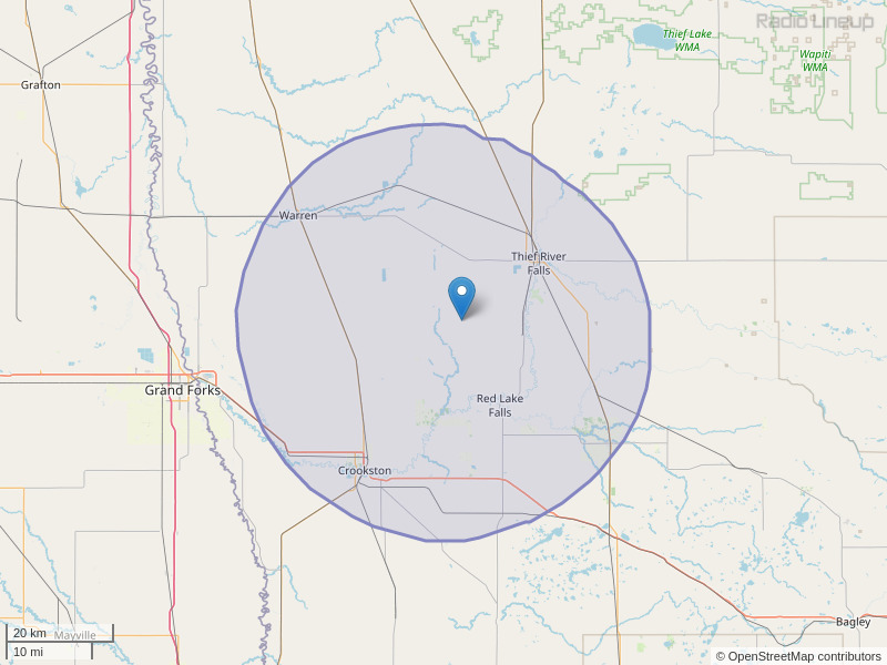 KSRQ-FM Coverage Map