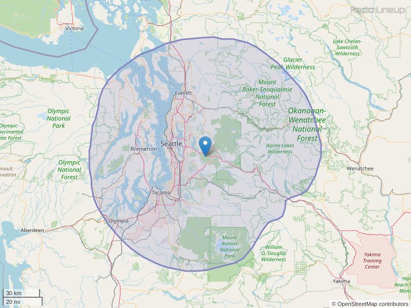 KBKS-FM Coverage Map