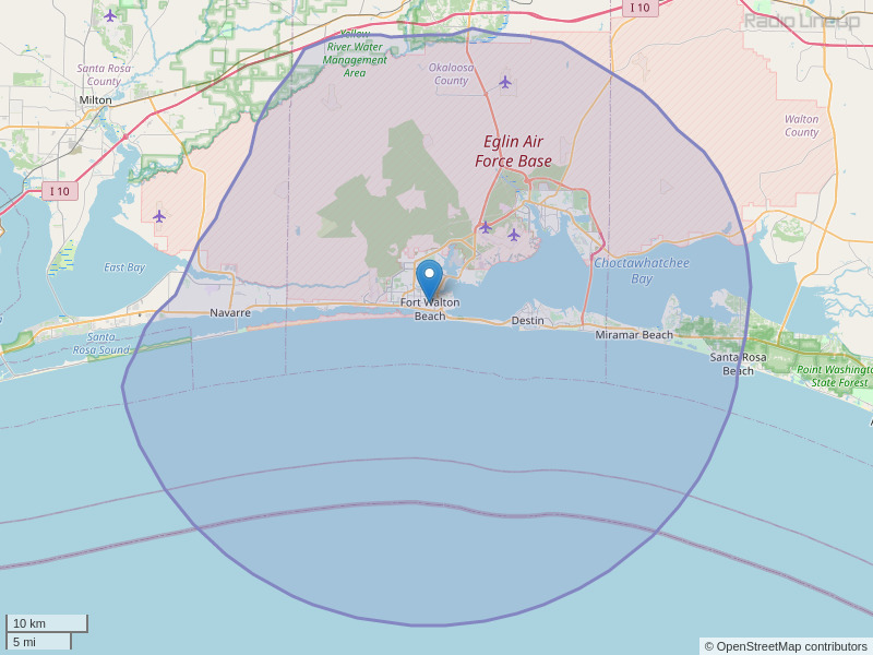 WYZB-FM Coverage Map
