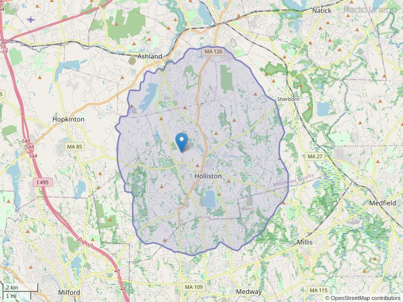 WHHB-FM Coverage Map