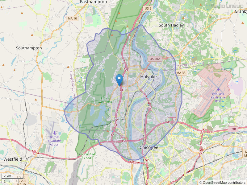 WCCH-FM Coverage Map